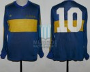 Boca Juniors - 1981 - Home - Adidas - 34ta Fecha Metro vs Racing Club - D. Maradona
