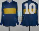 Boca Juniors - 1981 TM - Home - Adidas - 34ta Fecha Torneo Metropolitano vs Racing Club - Campeon - D. Maradona