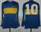 Boca Juniors - 1982 - Home - Adidas - Friendly vs Japan - D. Maradona