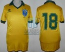 Brasil - 1986 - Home - Topper - QF Mexico WC vs France - Socrates