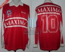 Estudiantes LP - 1997 - Home - Basset - Cruz Roja Argentina/Maxima - Friendly vs GELP - D. Maradona