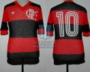 Flamengo - 1981 - Home - Adidas - Friendly vs Boca Juniors - A. Zico