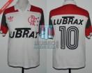 Flamengo - 1988 - Away - Adidas - Lubrax - Zico