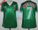 Mexico - 1985 - Home - Adidas - Friendly vs Argentina - M. España