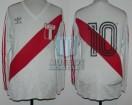 Peru - 1985 - Home - Adidas - 6ta Fecha Qualy Mexico WC vs Argentina - J. Uribe