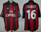 AC Milan - 2001/02 - Home - Adidas - Opel - Serie A Calcio / Uefa Cup - J. Chamot