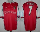 Arsenal FC - 1999/00 - Home - Nike - Dreamcast - 5ta Fecha PL vs Bradford City - N. Vivas