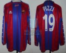FC Barcelona - 1997/98 - Home - Kappa - 13ra Fecha LFP vs Real Oviedo - J. Pizzi