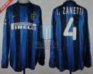 Internazionale - 2000/01 - Home - Nike - Pirelli - R16 UEFA Cup Ida vs Deportivo Alaves - J. Zanetti