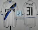 Internazionale - 2002/03 - Away - Nike - Pirelli - 31ra Fecha Serie A Calcio vs Atalanta - N. Vivas
