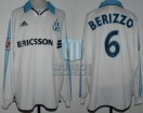 Olympique Marseille - 1999/00 - Home - Adidas - Ericsson - 13ra Fecha D1 vs RC Strasbourg - M. Berizzo