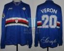 UC Sampdoria - 1996/97 - Home - Asics - Serie A Calcio - J. Veron