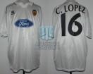 Valencia CF - 1996/97 - Home - Luanvi - Ford - UEFA Cup - C. Lopez
