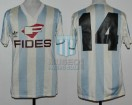 Racing Club - 1986/87 - Home - Adidas - Fides - 27ma Fecha vs Boca Jrs. - H. Lamadrid