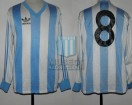 Racing Club - 1986 AM - Home - Adidas - Friendly vs Bayern 04 Leverkusen - H. Lamadrid