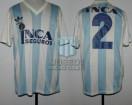 Racing Club - 1989/90 - Home - Adidas - Inca Seguros - 35ta Fecha vs Boca Juniors - C. Zaccanti
