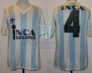 Racing Club - 1989/90 - Home - Adidas - Inca Seguros - 26ta Fecha vs River Plate - J. Reinoso