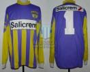 Racing Club - 1990 AP - GK Violeta - Reusch - Salicrem - 10ma Fecha vs Lanus - S. Goycoechea
