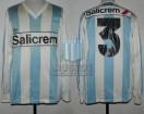 Racing Club - 1991 CL - Home - Adidas - Salicrem - 18va Fecha vs Argentinos Jrs. - S. Miguez