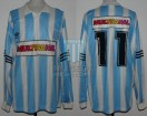Racing Club - 1995 CL - Home - Adidas - Multicanal - 18va Fecha vs Argentinos Jrs. - J. Fleita