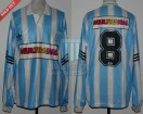 Racing Club - 1995 CL - Home - Adidas - Multicanal - 16ta Fecha vs GELP - M. Saralegui