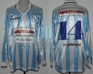 Racing Club - 1996 SC - Home - Topper - Multicanal - Supercopa vs Boca Juniors - C. Ubeda