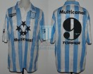 Racing Club - 1997 SC - Home - Topper - Multicanal - 6ta vs Santos FC - M. Vilallonga