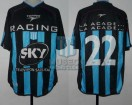 Racing Club - 2001 AP - Away - Topper - Sky - CAMPEON - 12da Fecha vs GELP - C. Estevez