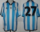 Racing Club - 2001 CL - Home - Adidas - 5ta Fecha vs Boca Juniors - L. Rueda