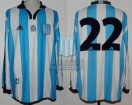 Racing Club - 2001 CL - Home - Adidas - 19na Fecha vs Independiente - M. Estevez