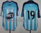 Racing Club - 2001 AP - Home - Topper - Sky - CAMPEON - 18va Fecha vs Lanus - J. Chatruc