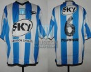 Racing Club - 2001 AM - Home - Topper - Sky - Amistoso Presentacion - S. Miguez