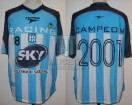 Racing Club - 2001 AM - Home - Topper - Sky - Amistoso vs Guarani - G. Barros Schelotto