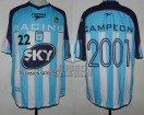 Racing Club - 2001 AM - Home - Topper - Sky - Amistoso vs Guarani - C. Estevez
