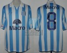 Racing Club - 2007 AP - Home - Nike - Banco Macro - 17ma Fecha vs Independiente - M. Estevez