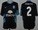 Racing Club - 2008 CL - Away - Nike - Banco Macro - 18va Fecha vs Huracan - M. Caceres