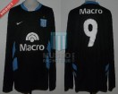 Racing Club - 2008 PM - Away - Nike - Banco Macro - Vuelta vs Belgrano Cba. - F. Sava