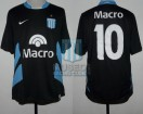 Racing Club - 2008 PM - Away - Nike - Banco Macro - Promocion Vuelta vs Belgrano Cba. - M. Moralez