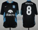 Racing Club - 2008 PM - Away - Nike - Banco Macro - Promocion Vuelta vs Belgrano Cba. - C. Estevez