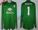Racing Club - 2008 CL - GK Verde - Nike - Banco Macro - H. Navarro
