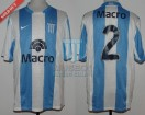 Racing Club - 2008 CL - Home - Nike - Banco Macro - 11ra vs Lanus - M. Caceres