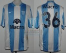 Racing Club - 2008 CL - Home - Nike - Banco Macro - 14ta Fecha vs Argentinos Jrs. - F. Zuculini