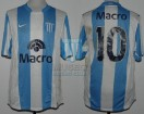 Racing Club - 2008 CL - Home - Nike - Banco Macro - 9na Fecha vs Velez - M. Moralez