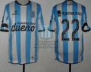 Racing Club - 2015 PD - Home - Topper - BH - 19na Fecha vs Belgrano Cba. - D. Milito