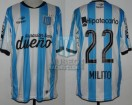 Racing Club - 2015 LIB - Home - Topper - BH - R8 VTA Copa Libertadores vs Guarani - D. MIlito