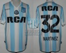 Racing Club - 2016/17 - Home - Kappa - RCA/BC - 15ta Fecha vs Lanus - L. Martinez