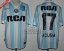 Racing Club - 2016/17 - Home - Kappa - RCA/BC - 16ta Fecha vs Belgrano Cba. - M. Acuña