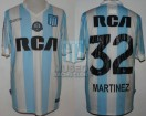 Racing Club - 2016/17 - Home - Kappa - RCA/BC - 17ma Fecha vs Godoy Cruz - L. Martinez