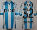 Racing Club - 2016/17 - Home - Kappa - RCA/BC - 30ma Fecha vs Banfield - L. Martinez