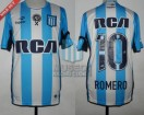 Racing Club - 2016/17 - Home - Topper - RCA/BC - Parche EC - 12da Fecha vs Boca Jrs. - O. Romero
